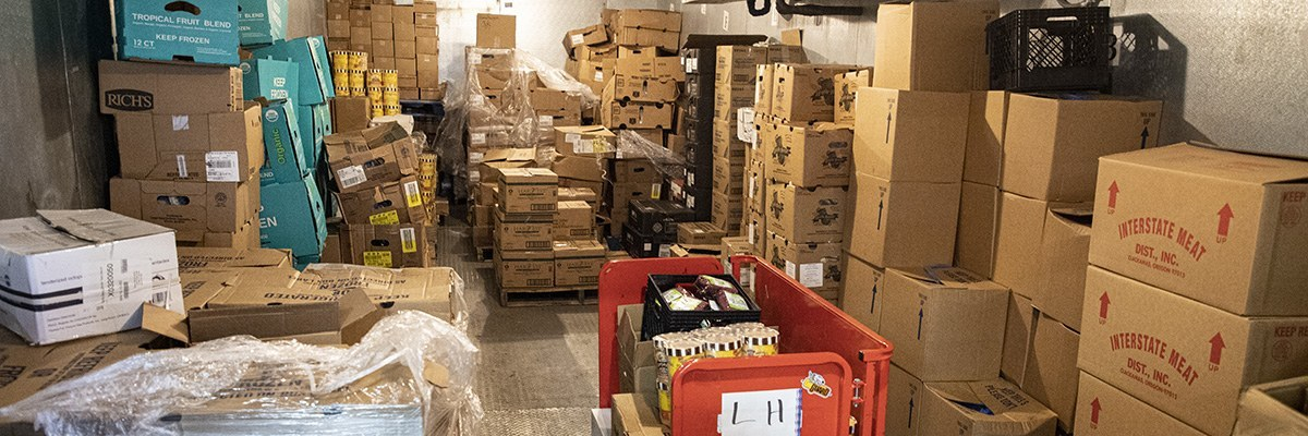Boxes in storage